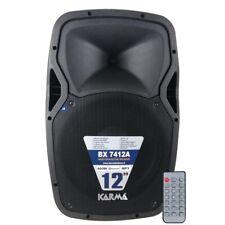 Karma BX 7412A Cassa Diffusore Amplificato 400W Nero Bluetooth Lettore MP3 Sd/Us