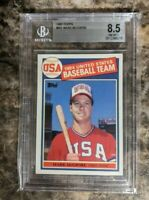 1985 Topps #401 Mark McGwire Rookie RC BGS 8.5 Team USA - PSA Cross?