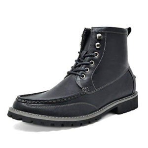 Men's Lace Up Motorcycle Faux Fur Dress Oxford Ankle Military Boots Shoes 6.5-13