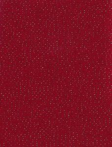 Bellana 20ct 18x27 Red w/Gold Lugana Fabric