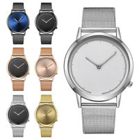 Men Vansvar Casual New Strap Watch Quartz Stainless Steel Band Analog Wristwatch