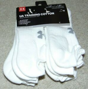 ~6 NEW Men's UNDER ARMOUR Training Cotton No-Show Socks! Size 4-8.5 Nice!
