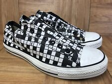 24bbfe149ea8 RARE🔥 Converse Chuck Taylor All Star Crossword Puzzle Slip On Fashion Shoe  S 10