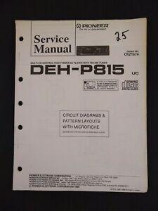 Pioneer Service Manual Circuit Diagrams Microfiche Order No CRZ1674 for DEH-P815