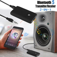 Wireless Bluetooth 5.0 Transmitter Receiver 2 IN 1 Audio 3.5mm Jack Aux Adapter