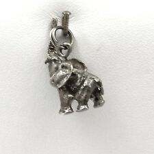 Sterling Silver Lucky Elephant 3S Trunk Up Charm Pendant 5.2gr