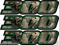 Camo 300 Decals Stickers 4x4 Graphics Sticker Snowmobile Quad ATV skidoo Bayou
