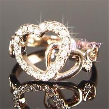 Bisutería de color principal oro de oro rosa de cristal