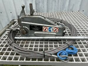 Tractel Tirfor TU8 600kg Man-riding wire rope winch with 40m Wire