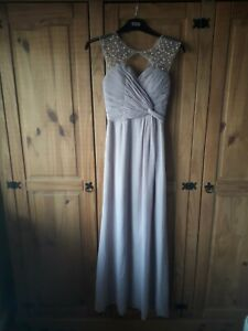 Blush prom dress - UK 8 - Gorgeous line, bead detail, ruched back for snug fit