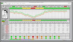 Peak Flow Meter Protokoll Asthma Ampel Excel Liste COPD Werte Auswertung Vorlage