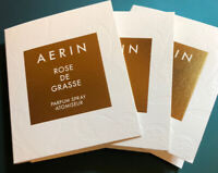 3 * Aerin ROSE DE GRASSE Eau de Parfum 0.05oz/1.5ml Mini Spray NEW