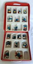 Vintage SMURFS of PEYO Mini Collectibles Case Lot of 19 Figurines