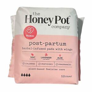 The Honey Pot Post-Partum Herbal Pads 12 Count Feminine Care