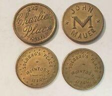 {BJStamps}  5 Vintage Merchant Trade Tokens  Madsen /& Sons Beardsley Kansas set