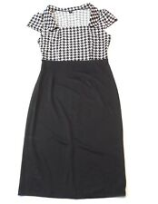 Face N Face Womens Dress Size Medium Short Sleeve Collar Career Black White