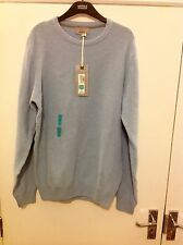 M&S Collection Pure Cotton Textured Crew Neck Jumper Size: Medium Long Length