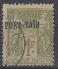 PORT SAID : TYPE SAGE 1F OLIVE N° 16 OBLITERATION LEGERE
