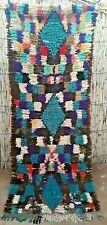 Vintage Ourika boucherouite rug 215 x 88 cm