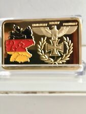 Collectables Gold Plated German Military WW2 Iron Cross Territory Bullion Bar