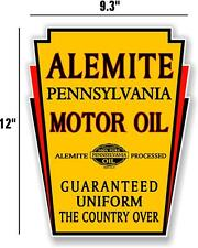 "12"" ALEMITE MOTOR OIL GAS PUMP TANK DECAL LUBESTER DECAL STICKER"
