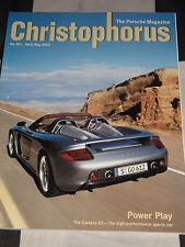 CHRISTOPHORUS PORSCHE MAGAZINE 301 APRIL MAY 2003 PORSCHE CARRERA GT 911 GT3