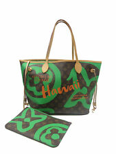 Louis Vuitton Ltd. Edition Hawaii Green Monogram Neverfull MM Tote Handbag