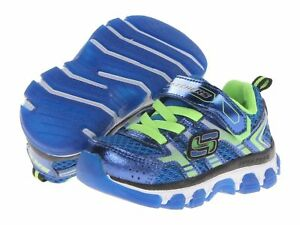 New-Skechers-X-Cellorator-95360N-BLLM-Blue-Lime-Hook & Loop-Toddler-Boy-Size 7