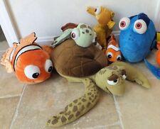 Disney Finding Nemo Dory Lot Plush Stuffed Animals Sheldon Squirt Crush