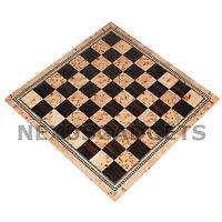 Chess 21 INCH EXTRA LARGE TOURNAMENT BURL Wood Game Set Flat Inlaid BOARD ONLY