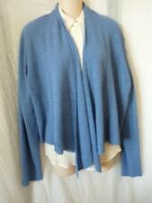 EILEEN FISHER BLUE OPEN FRONT CARDIGAN SWEATER L