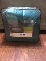 VCNY King 3 Piece Comforter Micro Mink Sherpa Teal Set Downtown Collection New