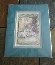 JODY BERGSMA 1998 Print Signed Dreams Live Forever Unicorn Pixie Fairy Mystical
