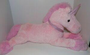 "Unicorn - DAN DEE ~ Large Floppy 36"" PINK UNICORN PLUSH Toy"