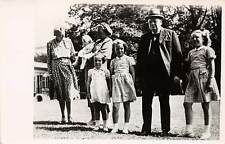 WINSTON CHURCHILL'S 1948 VISIT WITH THE DUTCH ROYAL FAMILY, REAL PHOTO PC