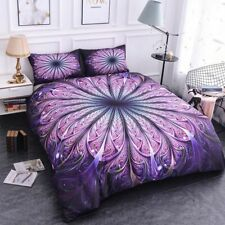 Mandala Bedding Set Queen Soft Twill Bohemian Print Duvet Cover Set Pillowcases