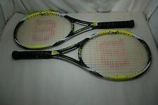 "Pair of Wilson K Pro Team Fx Tennis Rackets 4 1/4"" Grip"
