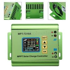 24/36/48/60/72V 10A DC Boost LCD MPPT Solar Regulator Charge Controller 7210A US