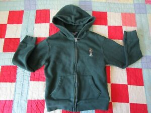 Polo Ralph Lauren Bear Full Zip Hooded Jacket Boys 8 Green Youth Kids Hoodie