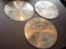 "Lot of 3 Antique Regina 15 1/2"" Music Box Discs No. 1817, 1623, 1357"