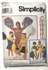Simplicity 8701 Girls Cheerleader Uniform Pattern Child Costume Size 2,4,6