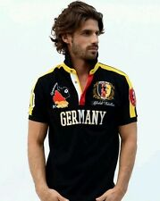 Absolute Rebellion Men fitted short Sleeve black embroidery Polo soccer Germany
