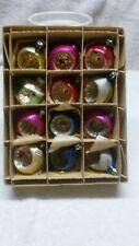 One dozen Mercury Glass Christmas Ornaments-Poland-AA-372