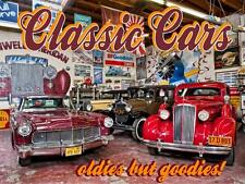 Classic Cars Oldies but Goodies Car Collection Automotive Metal Sign