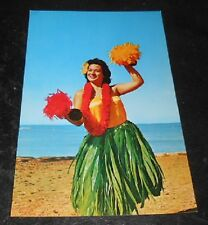 Vintage Postcard Hawaii Lovely Hula Girl Kodak Show