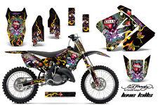 Dirt Bike Graphics Kit Decal MX Wrap For Suzuki RM125 RM250 2001-2009 EDHLK BLK