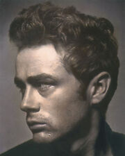 """JAMES DEAN HOLLYWOOD ACTOR & CULTURAL ICON 8x10"""" HAND COLOR TINTED PHOTOGRAPH"""