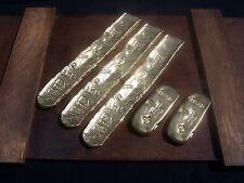 New 5 Spanish Atocha Gold Bar Replicas Pirates of the Caribbean Treasure Prop