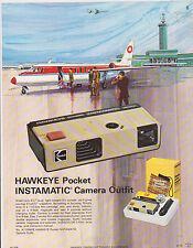 VINTAGE AD SHEET #2401 - 1973 KODAK CAMERA - HAWKEYE INSTAMATIC