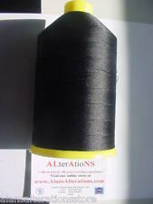 4000 MTRS BLACK 40's STRONG BONDED LEATHER / TENT / SAIL NYLON THREAD..